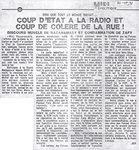 Dire que tout le monde savait� Coup d'�tat � la radio et coup de col�re de la rue!