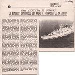 HMS Chatham is coming: Le b�timent britannique est pr�vu a Toamasina le 24 Juillet