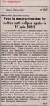 M�decins fonctionnaires: Pour la destruction des lunettes anti-?clipse apr?s le 21 juin 2001