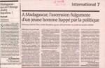 Madagascar: qui est l'�trange Andry Rajoelina? / A Madagascar, l'ascension fulgurante d'un jeune homme happ� par la politique