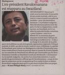 Madagascar: L'ex-pr�sident Ravalomanana est r�apparu au Swaziland