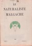 Front Cover: Le Naturaliste Malgache: Tome IX, F...