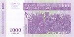 Back: Arivo Ariary (5000 Francs): Banky F...