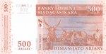 Back: Diman-Jato Ariary (2500 Francs): Ba...