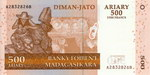 Front: Diman-Jato Ariary (2500 Francs): Ba...