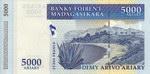 Back: Dimy Arivo Ariary (25000 Francs): B...