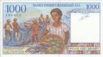 Back: 1000 Francs (Roan-Jato Ariary): Ban...