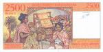 Back: 2500 Francs (Diman-Jato Ariary): Ba...