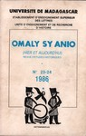 Omaly sy Anio (Hier et Aujourd'hui): Revue d'études historiques
