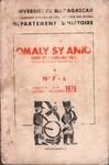Omaly sy Anio (Hier et Aujourd'hui): Revue d'�tudes historiques