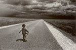 Front: Malagasy Child on Road: Horombe 199...
