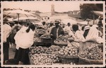 Front: Fruit and vegetable market in Madag...