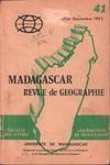 Front Cover: Madagascar Revue de Géographie: No....