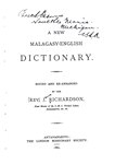 Titlepage: A New Malagasy-English Dictionary