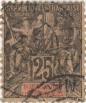 Navigation and Commerce: 25-Centime Postage Stamp