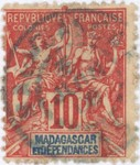 Navigation and Commerce: 10-Centime Postage Stamp