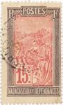 Filanjana: 15-Centime Postage Stamp