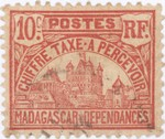 Front: Rova: 10-Centime Postage Stamp