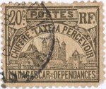 Front: Rova: 20-Centime Postage Stamp