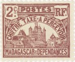 Front: Rova: 2-Centime Postage Stamp