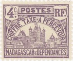 Front: Rova: 4-Centime Postage Stamp