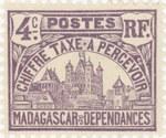 Rova: 4-Centime Postage Stamp