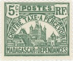 Front: Rova: 5-Centime Postage Stamp
