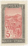Filanjana: 5-Centime Postage Stamp