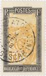 Filanjana: 50-Centime Postage Stamp