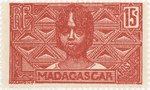 Betsileo Woman: 15-Centime Postage Stamp