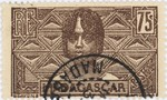 Betsileo Woman: 75-Centime Postage Stamp