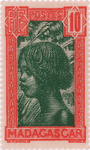 Hova Girl: 10-Centime Postage Stamp