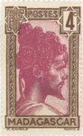 Sakalava Chief: 4-Centime Postage Stamp
