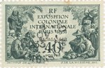 Paris Colonial Exhibition: 40-Centime Postage Stamp