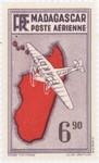 Mailplane: 6.90-Franc Postage Stamp