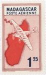 Front: Mailplane: 1.25-Franc Postage Stamp