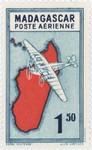 Front: Mailplane: 1.50-Franc Postage Stamp