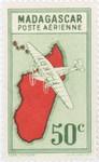 Front: Mailplane: 50-Centime Postage Stamp