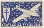 Mailplane: 25-Franc Postage Stamp