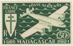 Mailplane: 50-Franc Postage Stamp