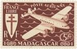 Front: Mailplane: 5-Franc Postage Stamp
