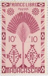 Ravenala Design: 10-Centime Postage Stamp
