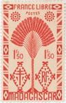 Front: Ravenala Design: 1.50-Franc Postage...