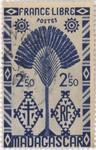 Front: Ravenala Design: 2.50-Franc Postage...