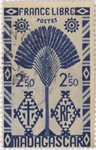 Ravenala Design: 2.50-Franc Postage Stamp