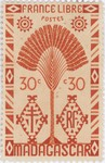 Ravenala Design: 30-Centime Postage Stamp