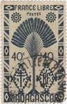 Ravenala Design: 40-Centime Postage Stamp