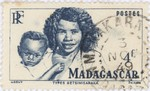 Betsimisiraka Woman and Child: 4-Franc Postage Stamp