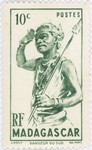 Dancer from the South: 10-Centime Postage Stamp