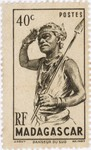 Dancer from the South: 40-Centime Postage Stamp